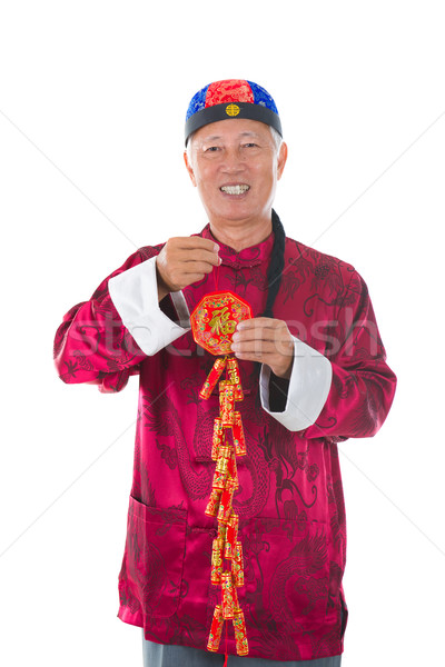 chinese new year man Stock photo © yuliang11