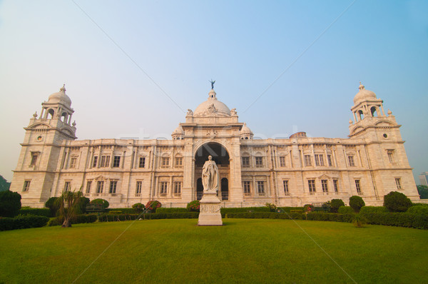 Landmark building of Calcutta or Kolkata, Victoria Memorial Hall Stock photo © yuliang11