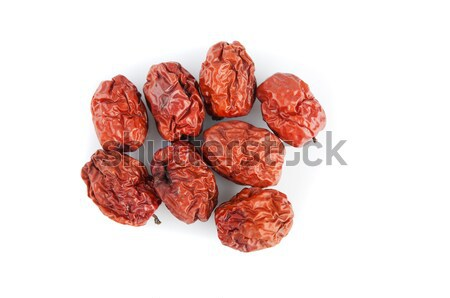 Dried jujube fruits/Chinese dates, which naturally turn red upon Stock photo © yuliang11