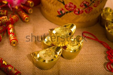 chinese new year gold bullion Stock photo © yuliang11