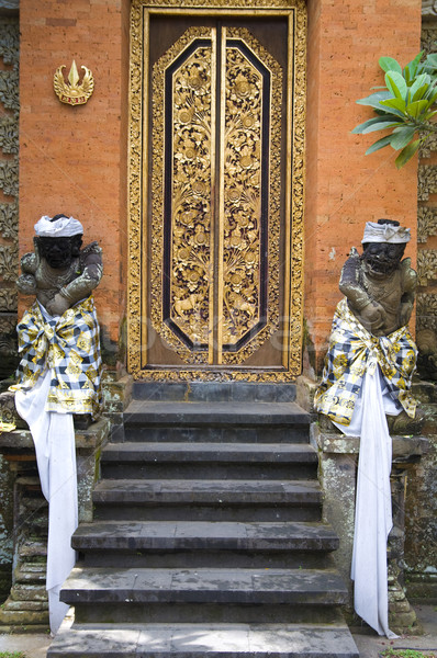 balinese temple door Stock photo © yuliang11