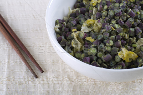 chinese stir fried long bean with egg Stock photo © yuliang11