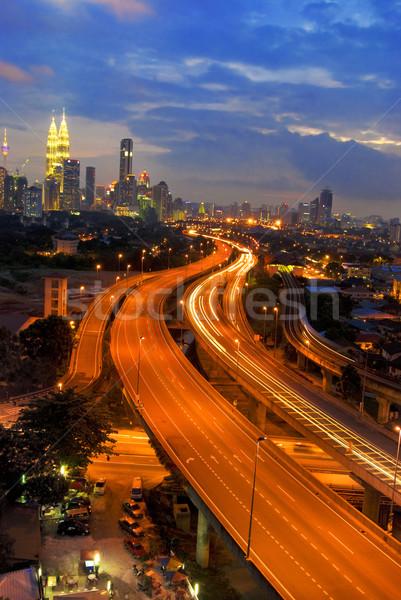 Kuala Lumpur Malezya ünlü işaret hızlı hareketli Stok fotoğraf © yuliang11