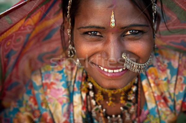 Ritratto India donna ragazza sposa Foto d'archivio © yuliang11
