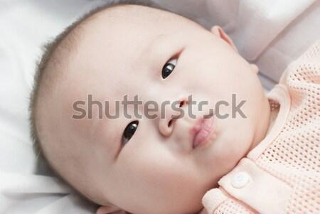 Gelukkig maanden oude asian baby jongen Stockfoto © yuliang11