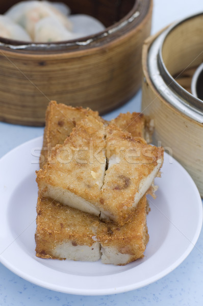 fried yam cake dim sum Stock photo © yuliang11