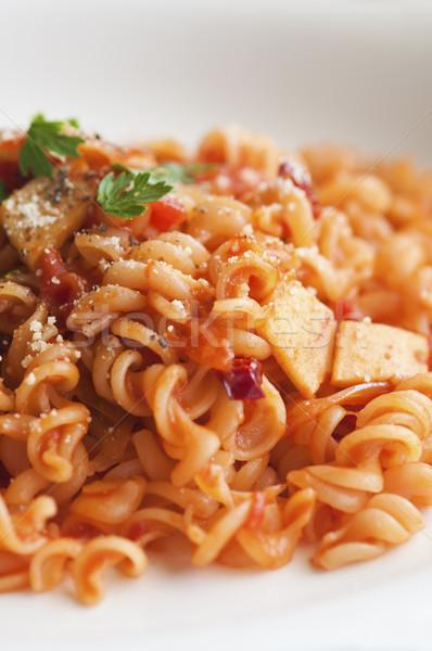 Shot pomodoro pasta alimentare rosso Foto d'archivio © yuliang11