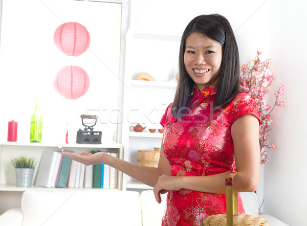Asya kadın moda güzellik Stok fotoğraf © yuliang11