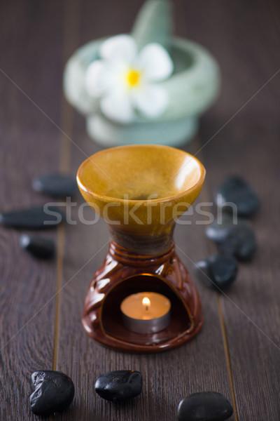 Spa aroma therapie behandeling hot rotsen Stockfoto © yuliang11