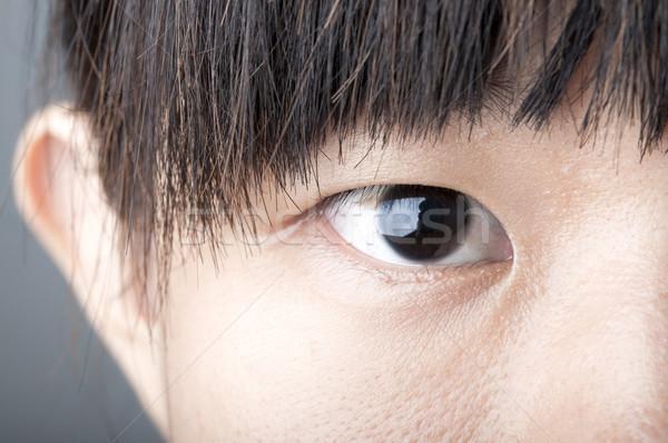 Close up zoom eye of an asian female  Stock photo © yuliang11