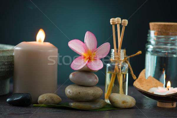 tropical frangipani spa health treatment with aroma therapy and  Stock photo © yuliang11