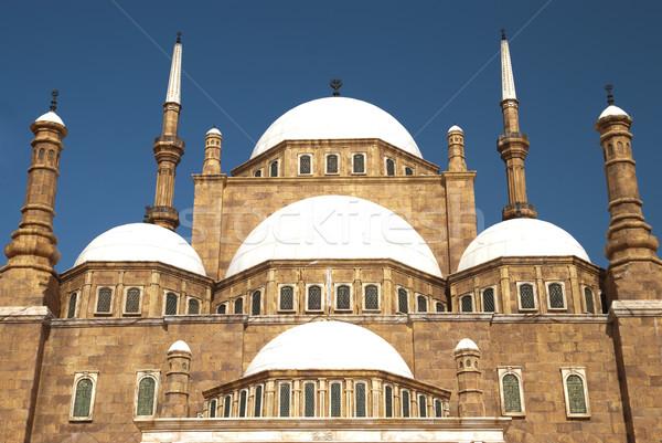 Cami atış Bina gün batımı manzara Stok fotoğraf © yuliang11