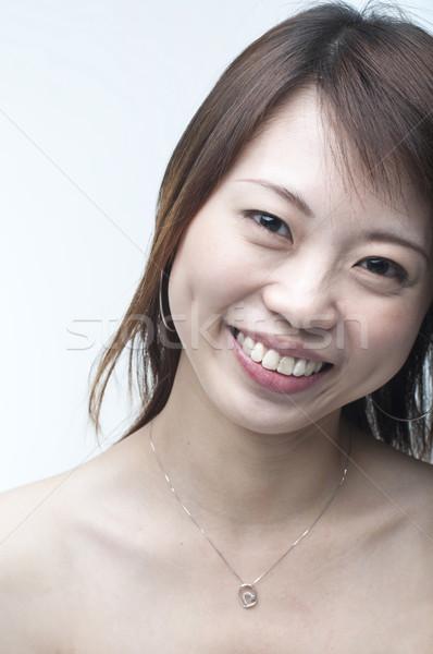 Foto stock: Sonriendo · Asia · nina · cerca · retrato · tiro