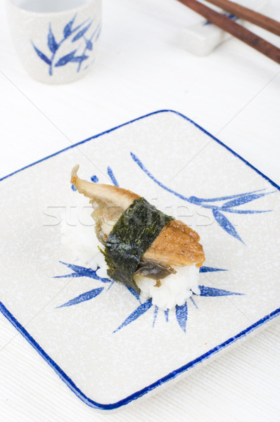 Photo stock: Sushis · plaque · poissons · santé · tasse