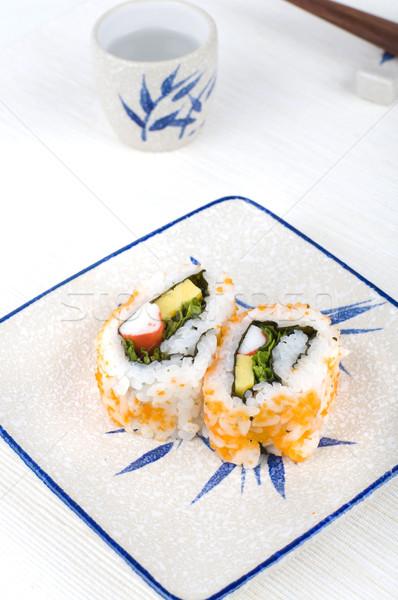 Photo stock: Sushis · plaque · poissons · santé · tasse · poivre