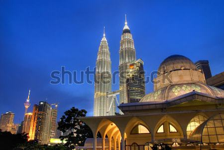 Kuala Lumpur kentsel gece görmek şehir iş Stok fotoğraf © yuliang11
