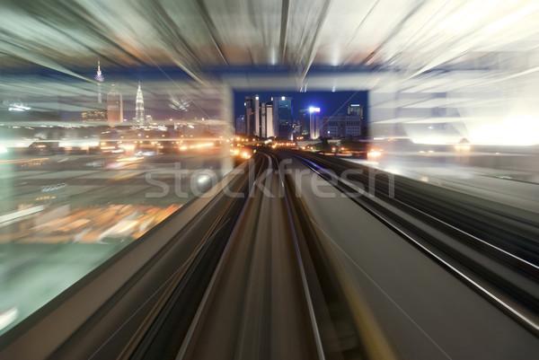 moving urban night transport Stock photo © yuliang11