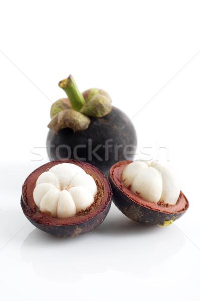 Мангостин выстрел тропические плодов Cut Сток-фото © yuliang11