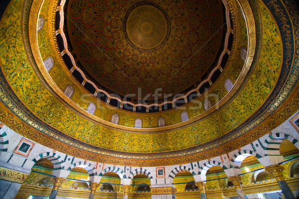 interior view of dome of the rock, Jerusalem ,palestine , isreal Stock photo © yuliang11