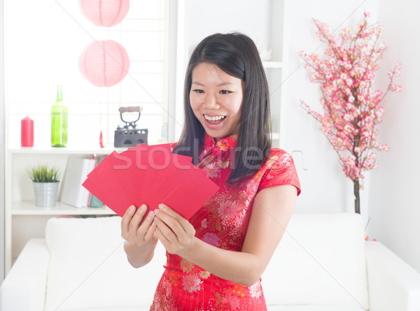 chinese new year girl Stock photo © yuliang11