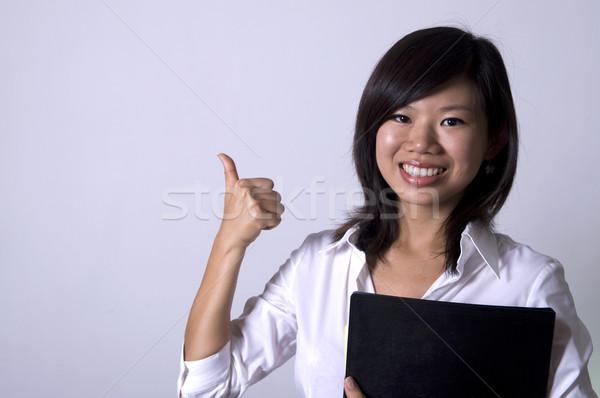 Asya iş kadın kadın öğrenci genç Stok fotoğraf © yuliang11