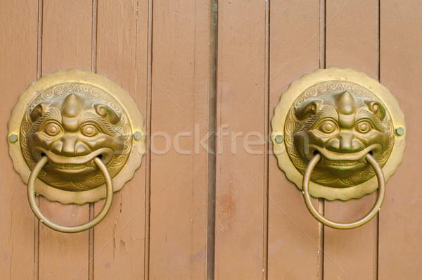 Slot mooie chinese asian deur Stockfoto © yuliang11