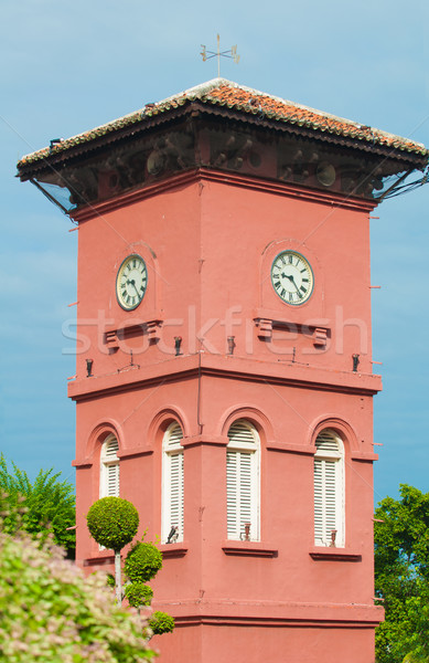 famous clock tower in melaka, unesco site Stock photo © yuliang11