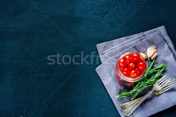 Red tomatoes with fresh ingredients Stock photo © YuliyaGontar