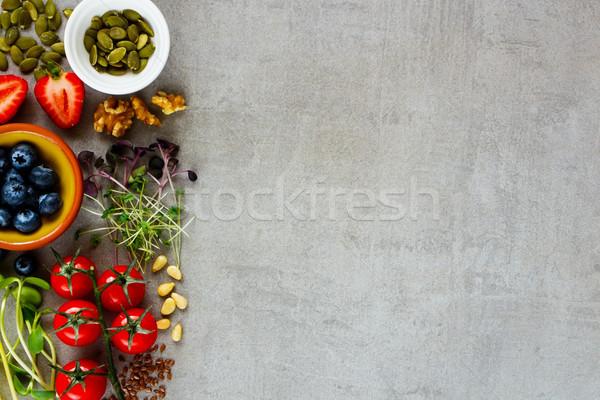 Selection of ingredients Stock photo © YuliyaGontar