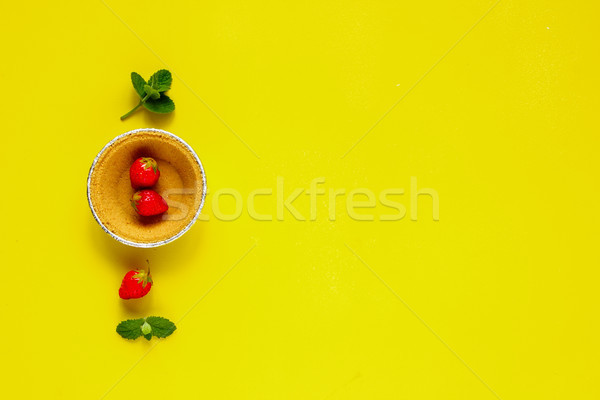 çilek malzemeler sarı üst görmek Stok fotoğraf © YuliyaGontar