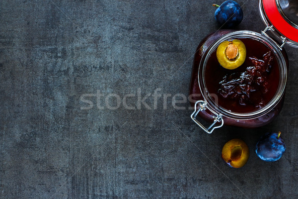слива Jam темно продовольствие Ингредиенты Сток-фото © YuliyaGontar
