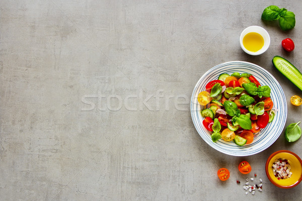 Healthy salad and ingredients Stock photo © YuliyaGontar