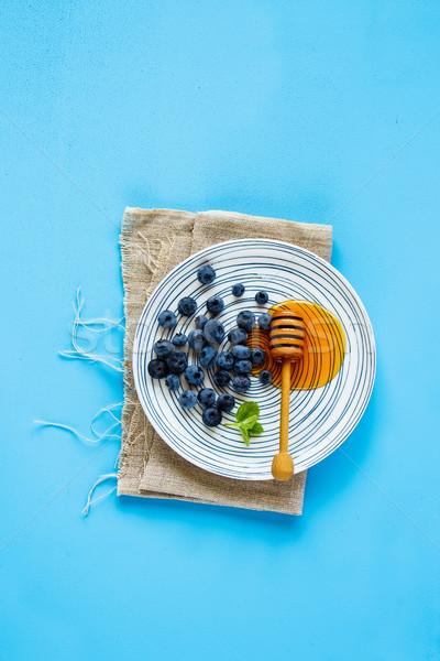 Wild blueberry on plate Stock photo © YuliyaGontar