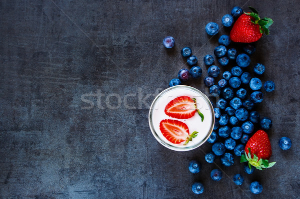Fresh fruit smoothies Stock photo © YuliyaGontar
