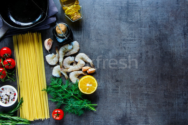 Pasta with seafood Stock photo © YuliyaGontar