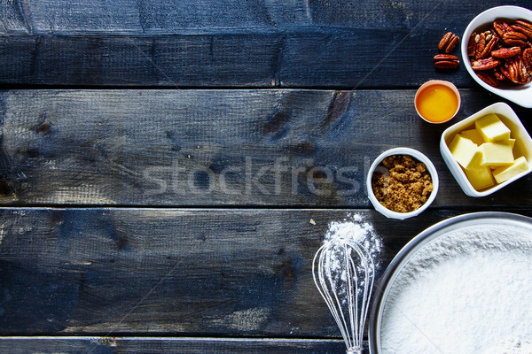 Ingredients for baking cake Stock photo © YuliyaGontar