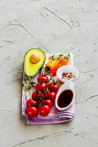 Biyo gıda kiraz domates pansuman Stok fotoğraf © YuliyaGontar