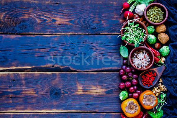 Fresh vegetables and fruits Stock photo © YuliyaGontar
