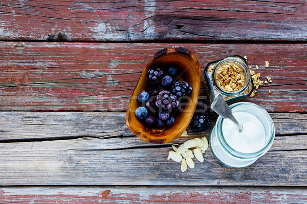 Stockfoto: Ingrediënten · smoothie · gezonde · bes