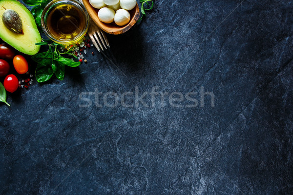 Colorful salad ingredients Stock photo © YuliyaGontar