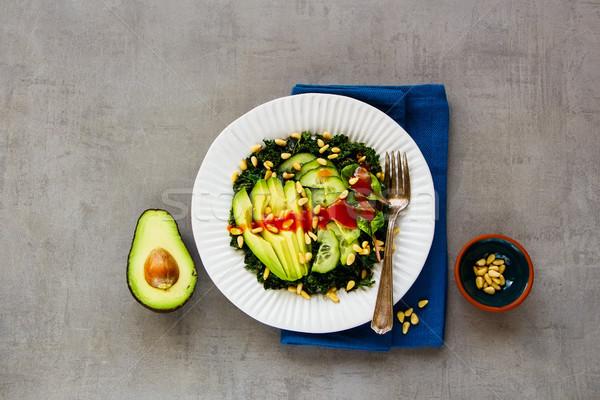 Stok fotoğraf: Yeşil · vegan · salata · lezzetli · avokado · salatalık