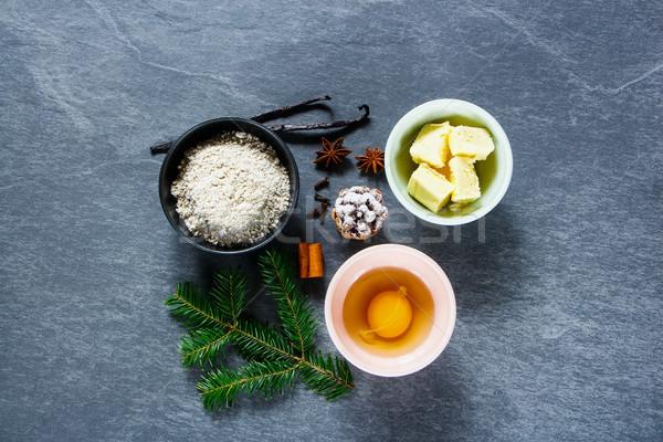 Vacanze Natale cottura cottura ingredienti decorazioni Foto d'archivio © YuliyaGontar