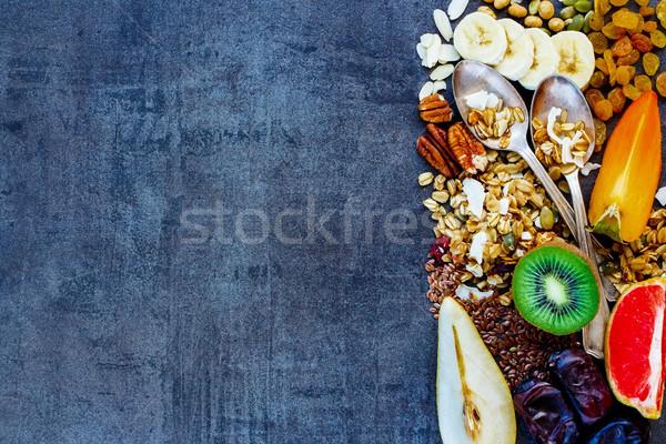 Stok fotoğraf: Sağlıklı · kahvaltı · malzemeler · üst · görmek · renkli