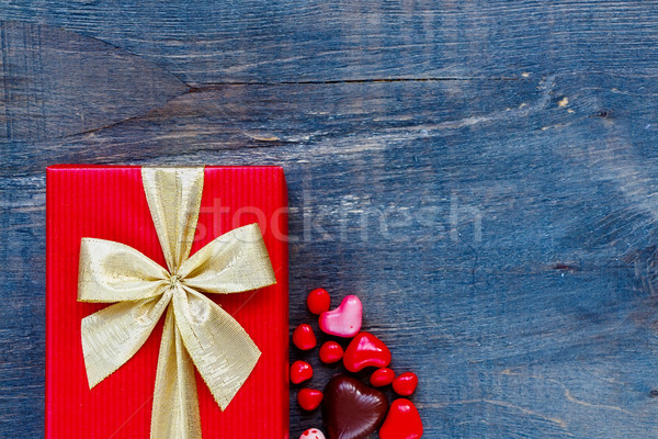 Red Holidays gift Stock photo © YuliyaGontar