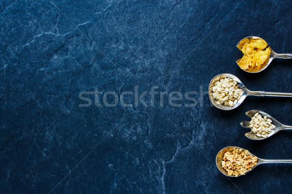 Różny zboża śniadanie tekstury Zdjęcia stock © YuliyaGontar