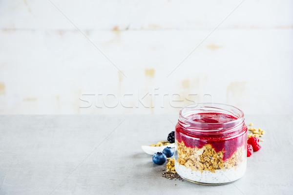 Tasty berry smoothie Stock photo © YuliyaGontar