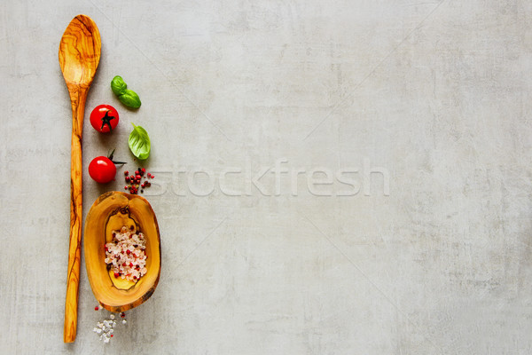 Fresh organic ingredients Stock photo © YuliyaGontar