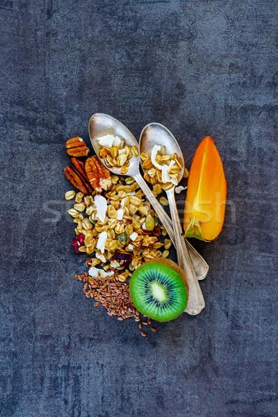 Stok fotoğraf: Sağlıklı · kahvaltı · malzemeler · lezzetli · renkli · karanlık