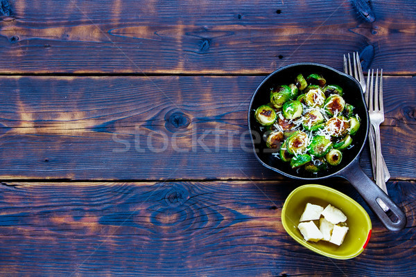 Roasted brussels sprouts Stock photo © YuliyaGontar