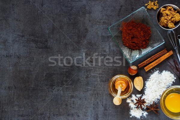 Ingrediënten cake geheel meel Stockfoto © YuliyaGontar